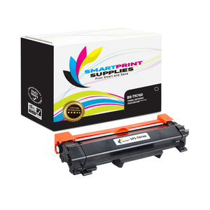 1 Pack Brother TN760 Black Replacement Standard Toner By Smart Print Supplies