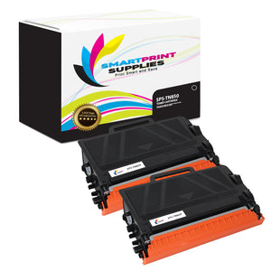 2 Pack Brother TN850 Black Replacement Standard Toner By Smart Print Supplies