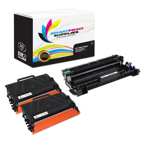 2 Pack Brother TN850 Replacement Black Toner Cartridge and DR820 Drum Unit by Smart Print Supplies /8,500 per cartridges and 30,000 per drum unit Pages