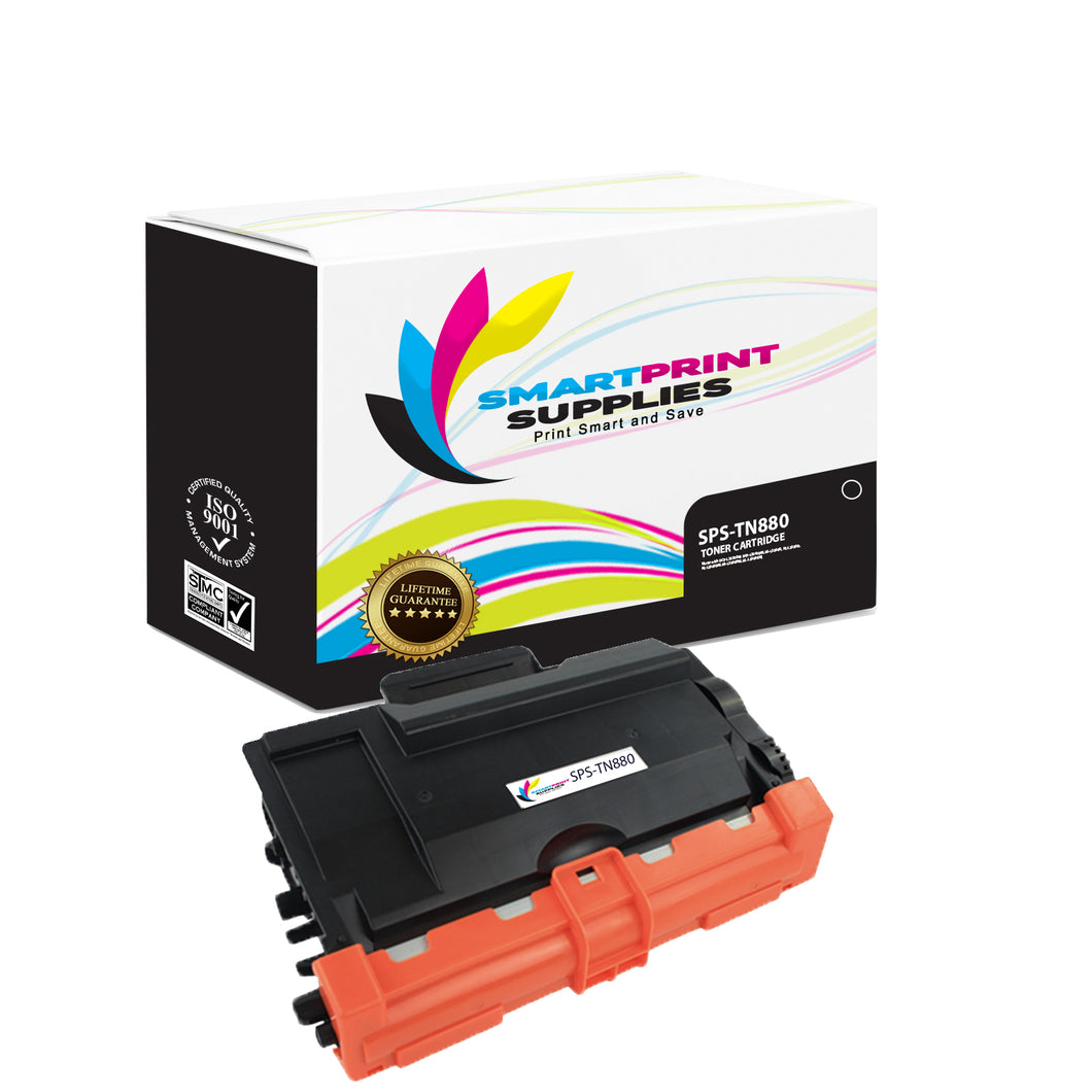 Brother TN880 Replacement Black Toner Cartridge by Smart Print Supplies /12000 Pages