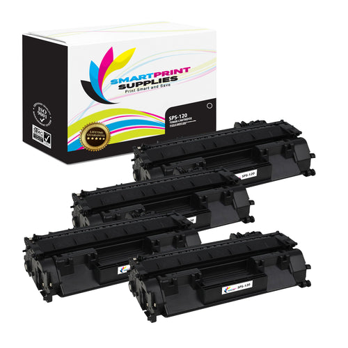 4 Pack  Canon 120 Replacement Black Toner Cartridge by Smart Print Supplies /5000 Pages