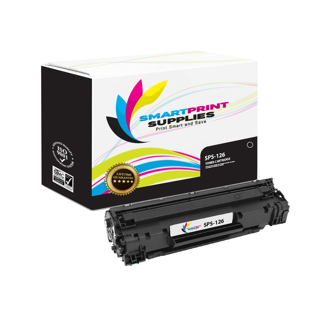 1 Pack Canon C 126 Black Replacement Standard Toner By Smart Print Supplies