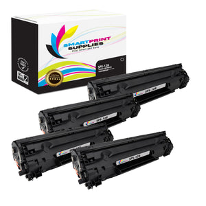 4 Pack  Canon 128 Replacement Black Toner Cartridge by Smart Print Supplies /2100 Pages