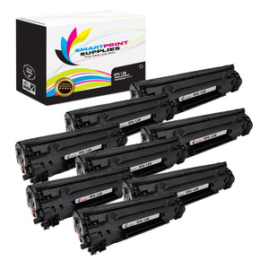 8 Pack Canon C 128 Black Replacement Standard Toner By Smart Print Supplies