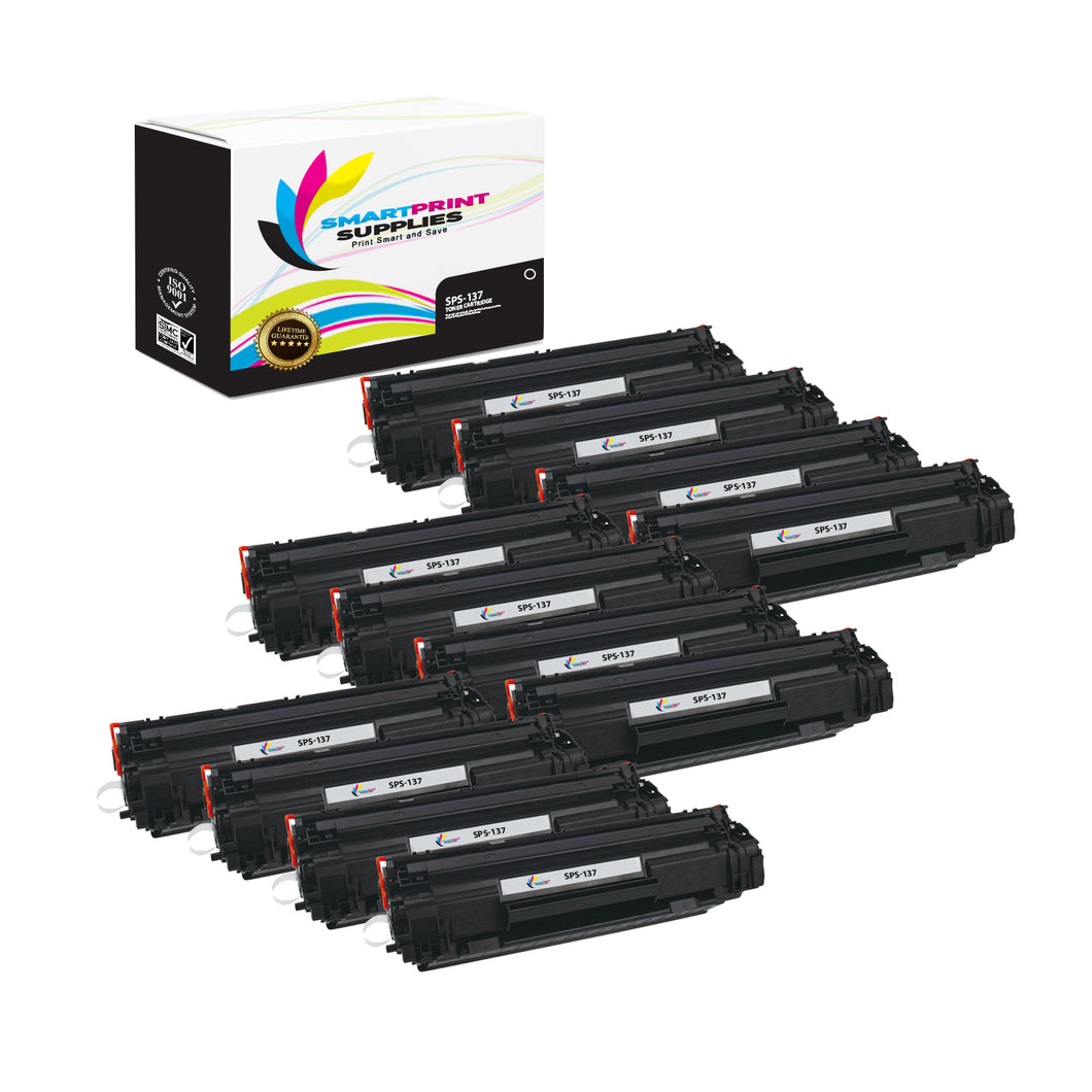 12 Pack Canon C 137 Black Replacement Standard Toner By Smart Print Supplies