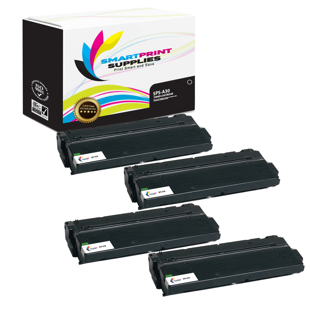4 Pack  Canon A30 Replacement Black Toner Cartridge by Smart Print Supplies /3000 Pages