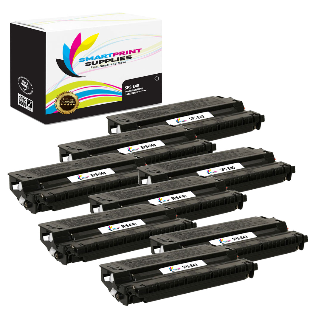 8 Pack Canon E40 Black Replacement Standard Toner By Smart Print Supplies