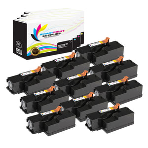 10 Pack Dell 1250C 4 Colors Replacement Toner Cartridge By Smart Print Supplies