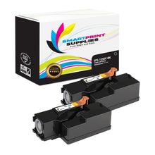 2 Pack Dell 1250C Black Replacement Toner Cartridge By Smart Print Supplies