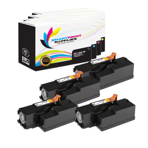 4 Pack Dell 1250C 4 Colors Replacement Toner Cartridge By Smart Print Supplies