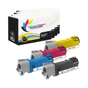 4 Pack Dell 1320C 4 Colors Replacement Toner Cartridge By Smart Print Supplies