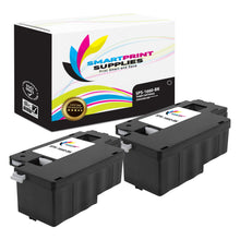 2 Pack Dell C1660W Black Replacement Toner Cartridge By Smart Print Supplies