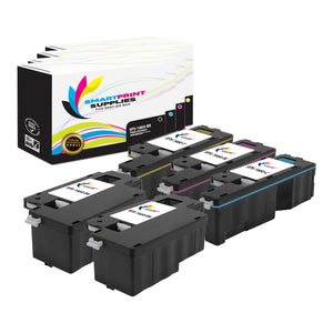 5 Pack Dell C1660W 4 Colors Replacement Toner Cartridge By Smart Print Supplies
