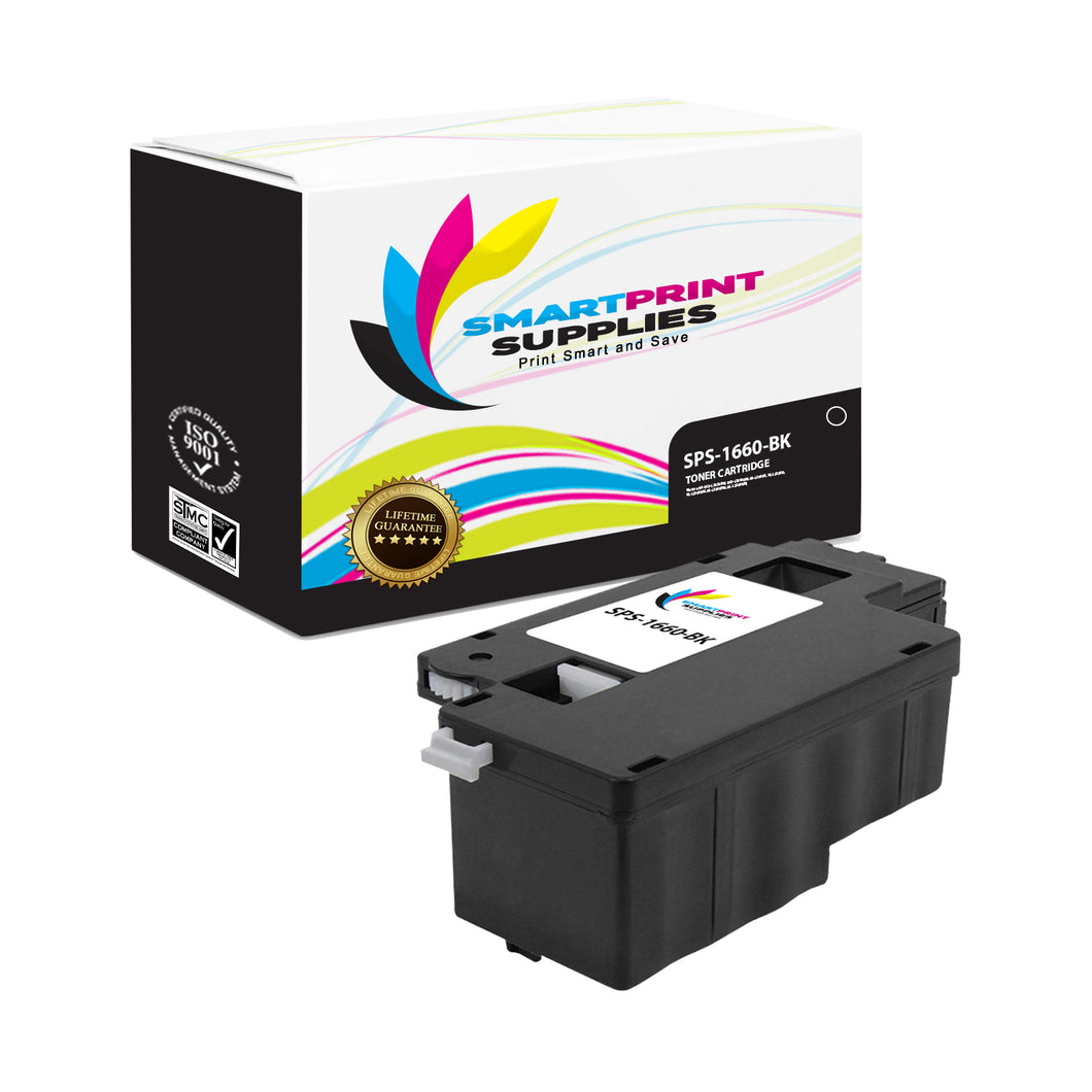 1 Pack Dell C1660W Black Replacement Toner Cartridge By Smart Print Supplies