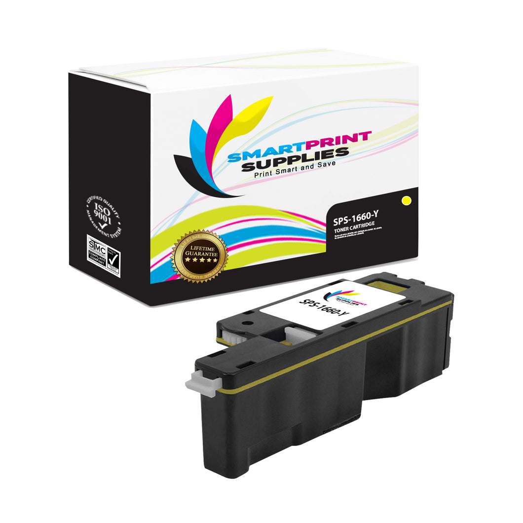 1 Pack Dell C1660W Yellow Replacement Toner Cartridge By Smart Print Supplies