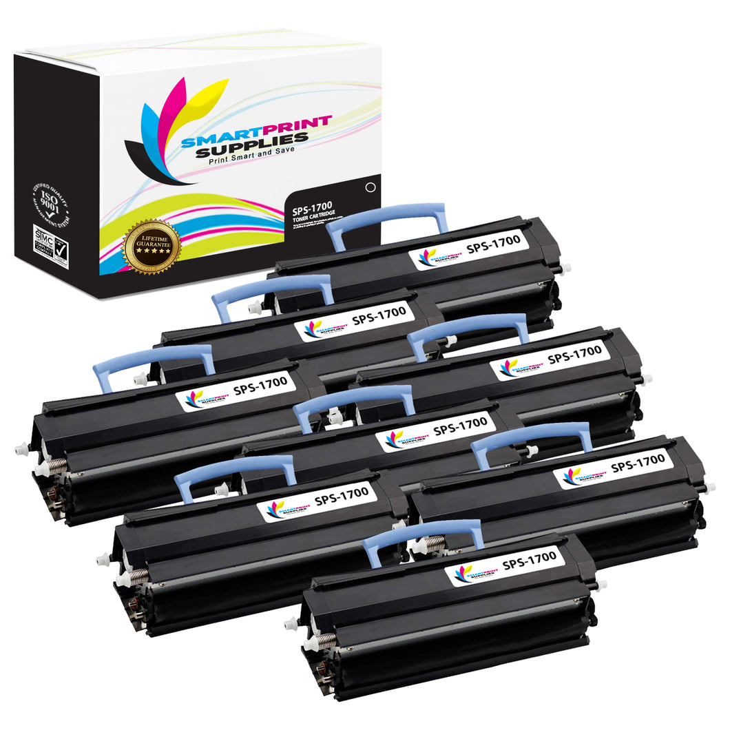 8 Pack Dell 1700 Black Replacement Toner Cartridge By Smart Print Supplies
