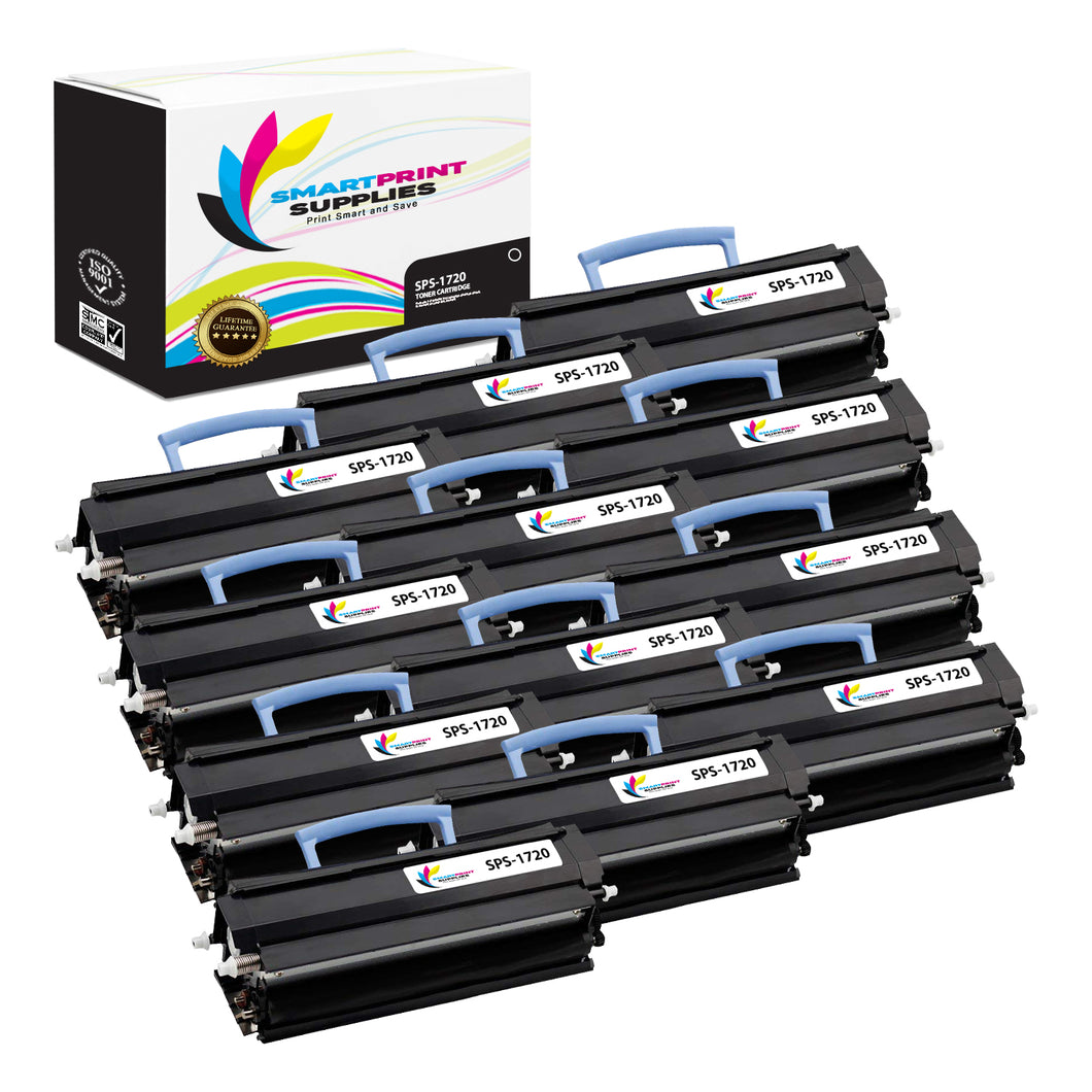 12 Pack Dell 1720 Black Replacement Toner Cartridge By Smart Print Supplies