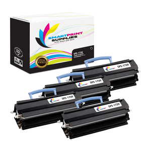 4 Pack Dell 1720 Black Replacement Toner Cartridge By Smart Print Supplies