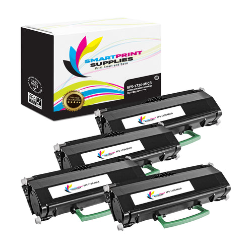 4 Pack Dell 1720 MICR Replacement Black Toner Cartridge by Smart Print Supplies /6000 Pages