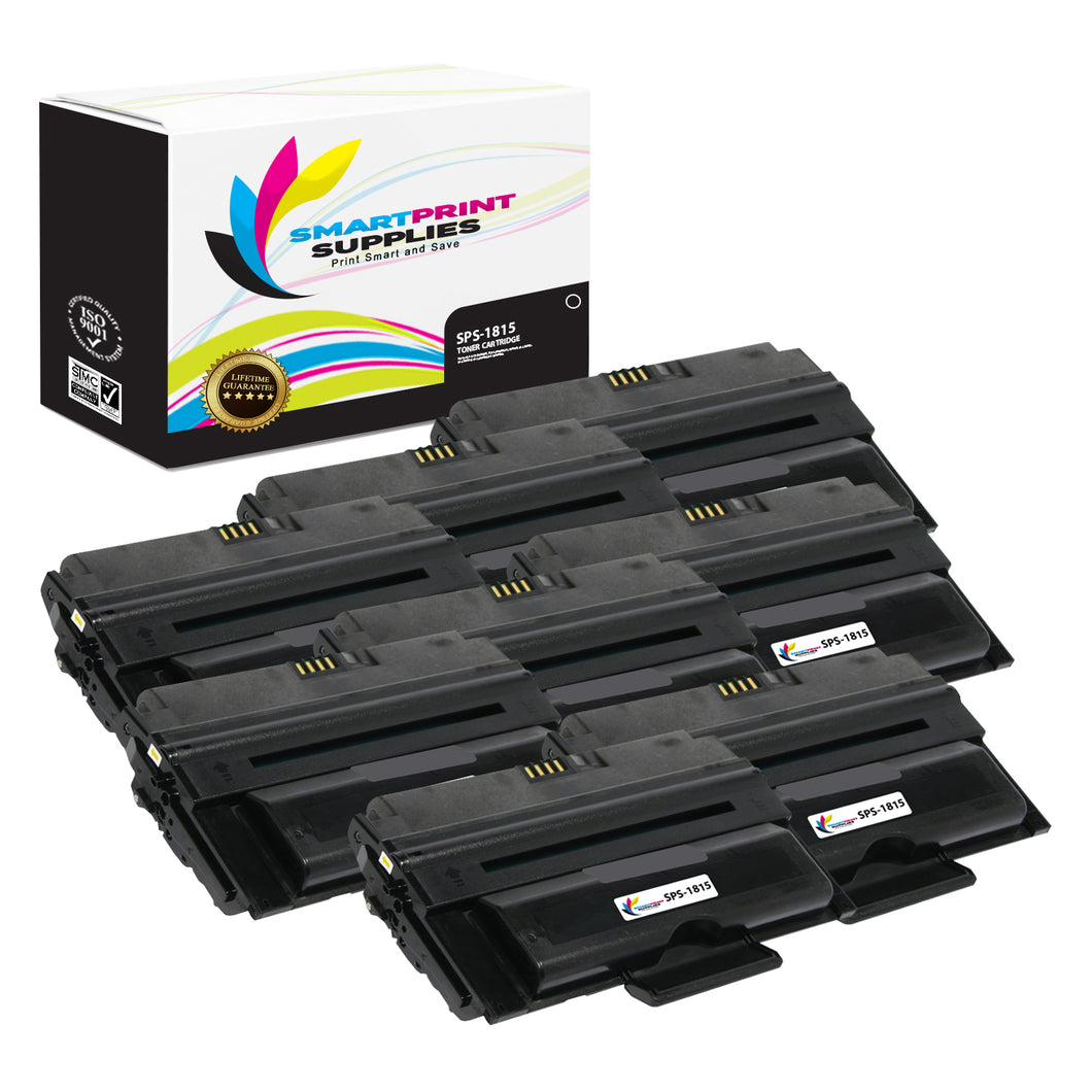 8 Pack Dell 1815 Black Replacement Toner Cartridge By Smart Print Supplies