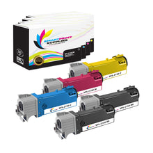 5 Pack Dell 2150CN 4 Colors Replacement Toner Cartridge By Smart Print Supplies