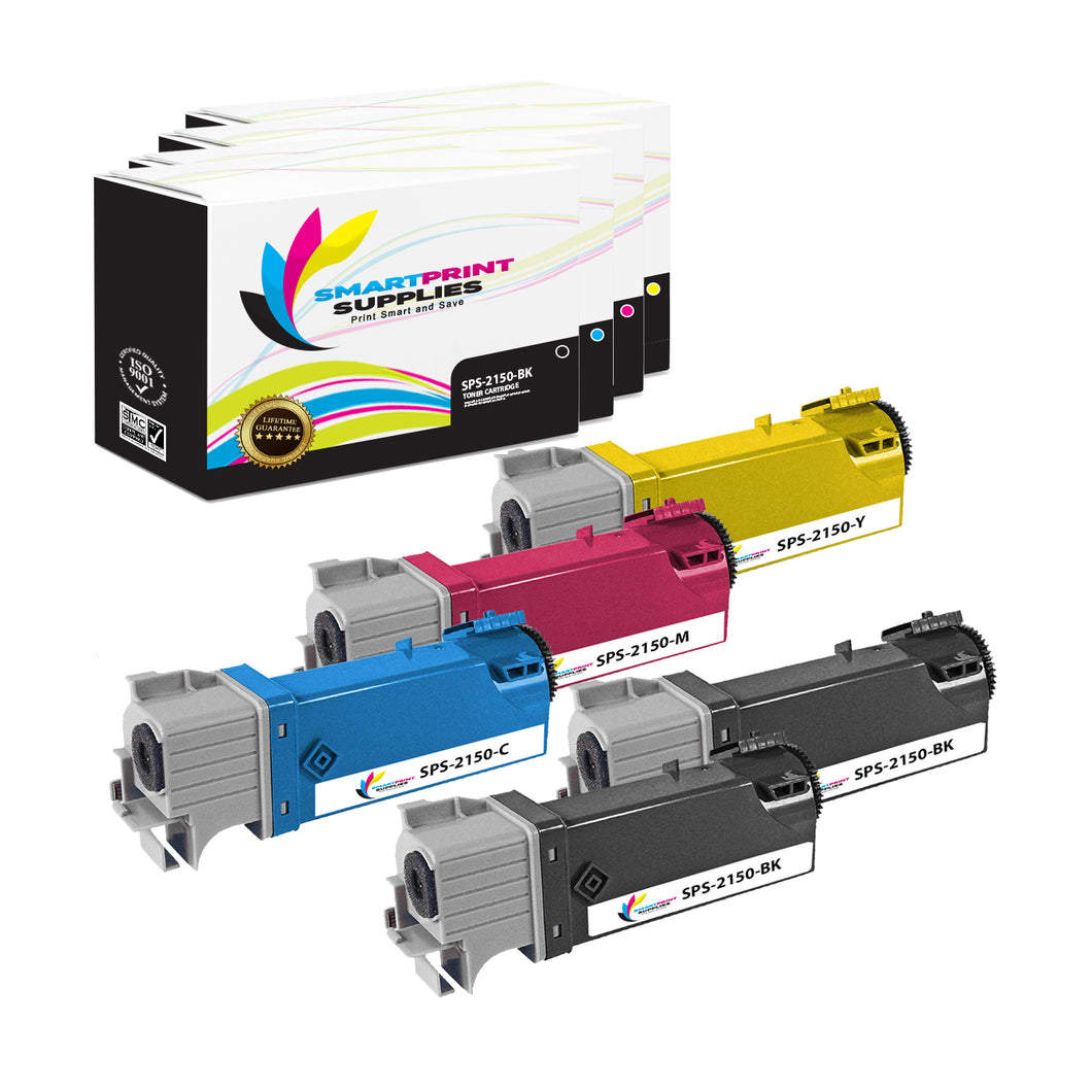 8 Pack Dell 1320C 4 Colors Replacement Toner Cartridge By Smart Print Supplies
