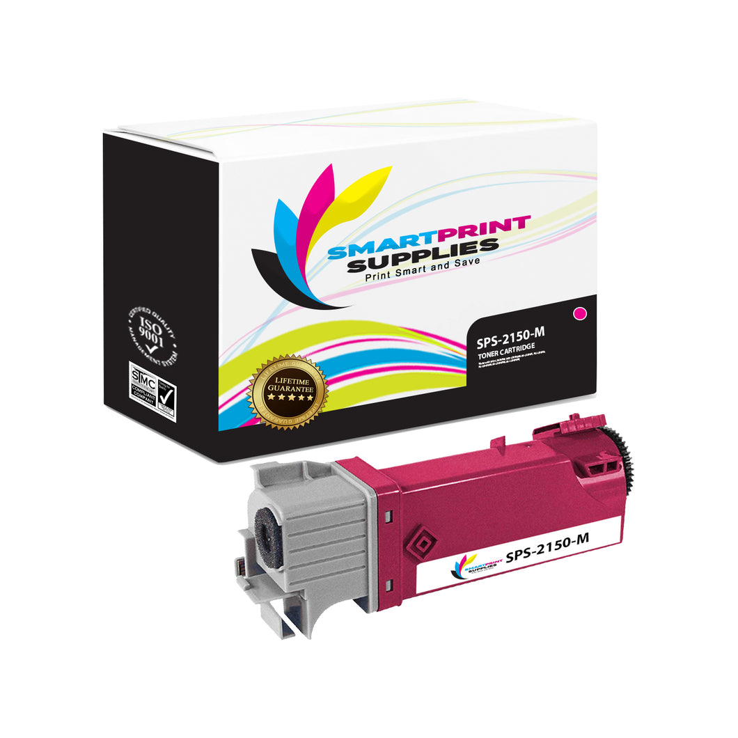 1 Pack Dell 2150CN Magenta Replacement Toner Cartridge By Smart Print Supplies