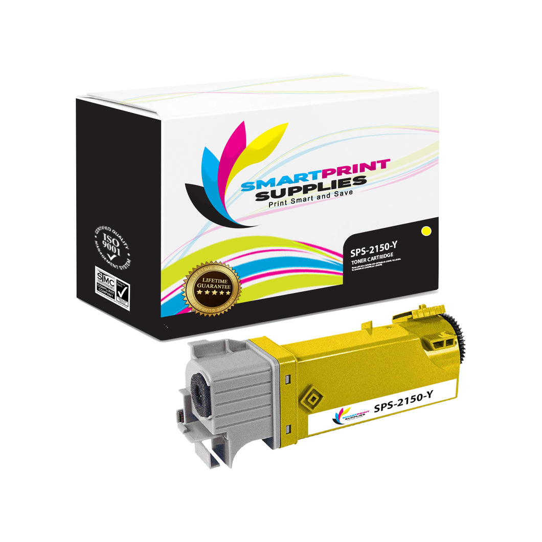 1 Pack Dell 2150CN Yellow Replacement Toner Cartridge By Smart Print Supplies