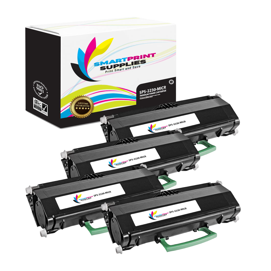 4 Pack Dell 2230 MICR Replacement Black Toner Cartridge by Smart Print Supplies /3500 Pages