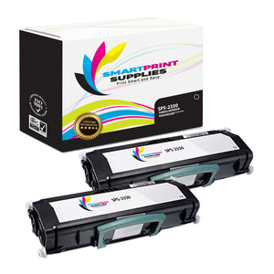 2 Pack Dell DEL-2330 Premium Replacement Black Toner Cartridge by Smart Print Supplies