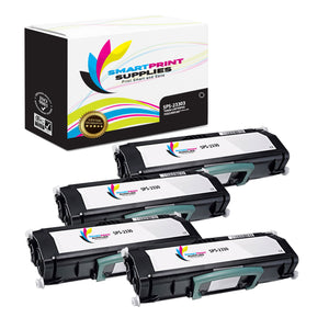 4 Pack  Dell 2330 Replacement Black Toner Cartridge by Smart Print Supplies /6000 Pages