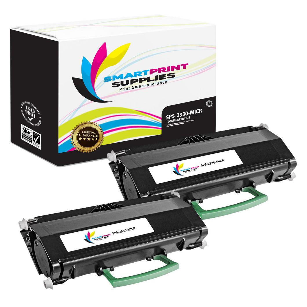 2 Pack Dell 2330 MICR Replacement Black Toner Cartridge by Smart Print Supplies /6000 Pages