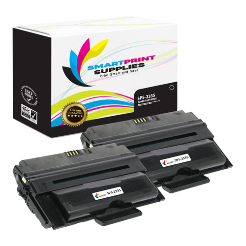 2 Pack Dell 2335 Black Replacement Toner Cartridge By Smart Print Supplies