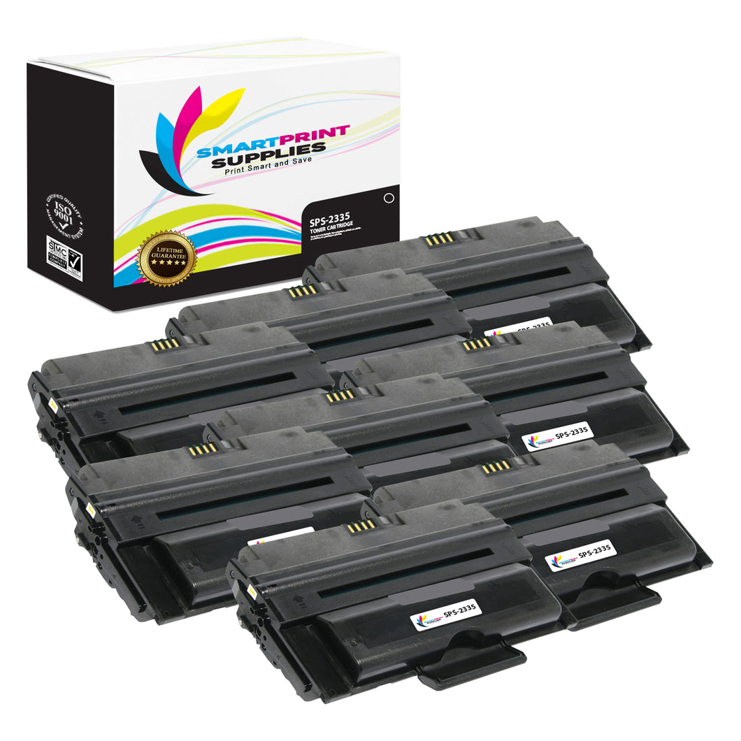 8 Pack Dell 2335 Black Replacement Toner Cartridge By Smart Print Supplies