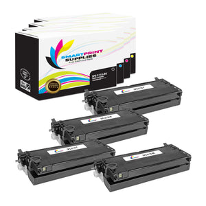 4 Pack Dell 3110CN 4 Colors Replacement Toner Cartridge By Smart Print Supplies