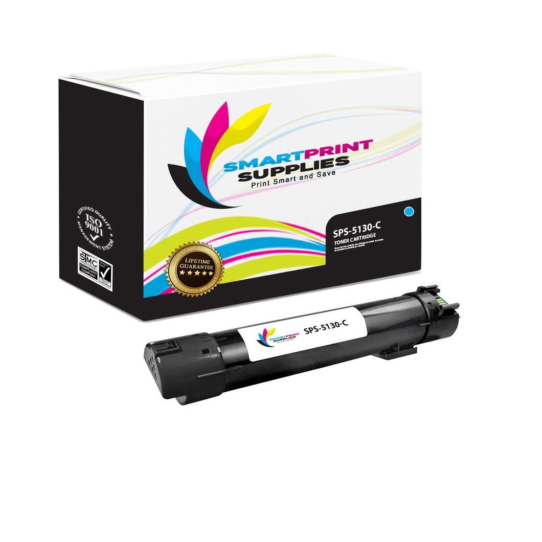 1 Pack Dell 5130CDN Cyan Replacement Toner Cartridge By Smart Print Supplies