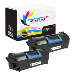 2 Pack Dell B3465 Premium Replacement Black Toner Cartridge by Smart Print Supplies