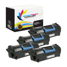 4 Pack Dell B5465 Premium Replacement Black Toner Cartridge by Smart Print Supplies