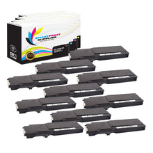 10 Pack Dell C3760 4 Colors Replacement Toner Cartridge By Smart Print Supplies