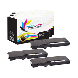 3 Pack Dell C3760 3 Colors Replacement Toner Cartridge By Smart Print Supplies