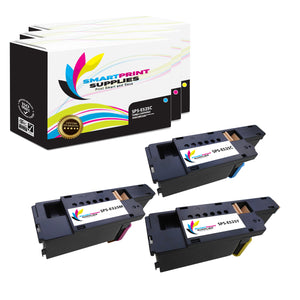 Smart Print Supplies E525W E525C E525M E525Y Replacement Color Toner Cartridge Three Pack (1C, 1M, 1Y)