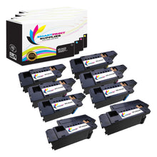 8 Pack Dell E525W 4 Colors Replacement Toner Cartridge By Smart Print Supplies