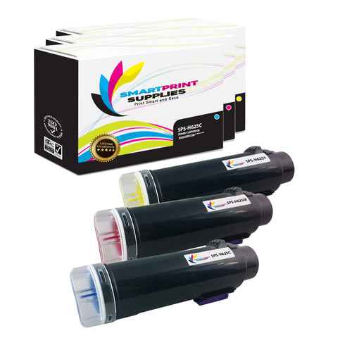 Smart Print Supplies H625 H825 S2825 Replacement Color Toner Cartridge Three Pack (1C, 1M, 1Y)