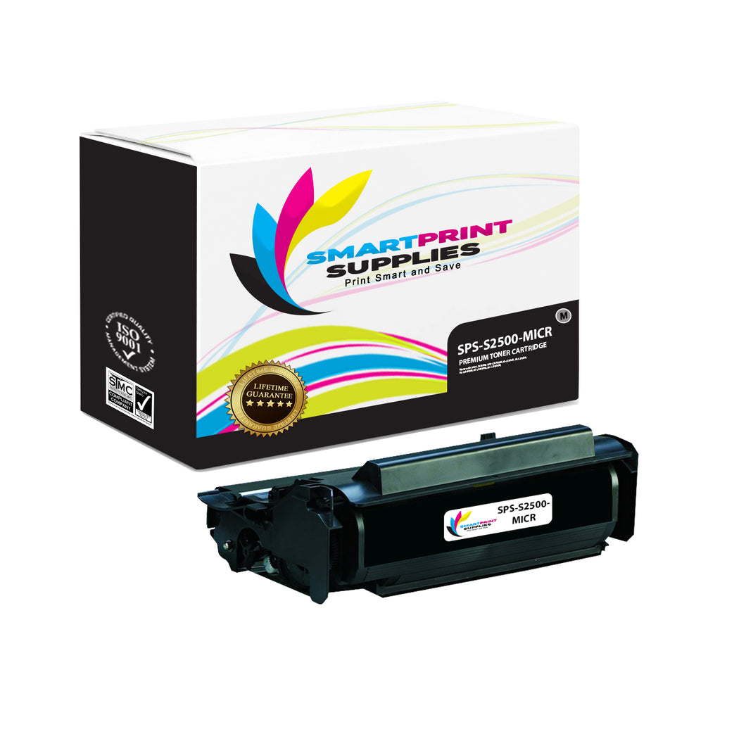 1 Pack Dell S2500 MICR Replacement Black Toner Cartridge by Smart Print Supplies /10000 Pages