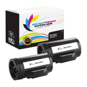 2 Pack Dell S2810 Black Replacement Toner Cartridge By Smart Print Supplies
