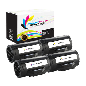 4 Pack Dell S2810 Black Replacement Toner Cartridge By Smart Print Supplies