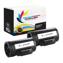 2 Pack Dell S2810 High Yield Black Replacement Toner Cartridge By Smart Print Supplies