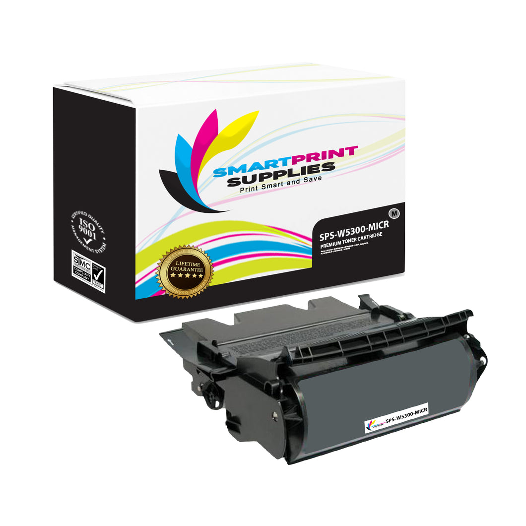 1 Pack Dell W5300 MICR Replacement Black Toner Cartridge by Smart Print Supplies /27000 Pages