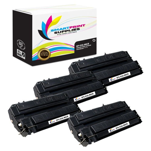 4 Pack HP 03A C3903A Replacement Black MICR Toner Cartridge by Smart Print Supplies