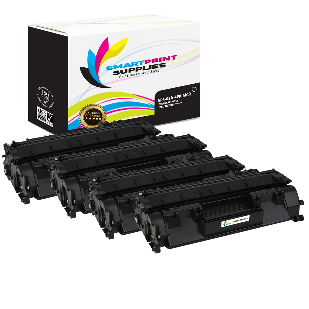 4 Pack HP 05A MCR Replacement MICR Toner Cartridge by Smart Print Supplies